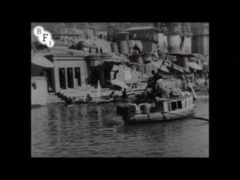 Panorama of Calcutta, India, From the River Ganges (1899) - filmed in Varanasi