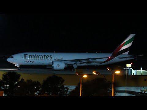 Night Landings & Takeoff @ Curacao Airport | Surinam Airways B737 / TUI B787 / Emirates B777F