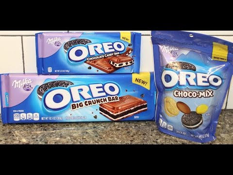 Milka Oreo: Chocolate Candy Bar, Big Crunch Bar & Choco-Mix Review