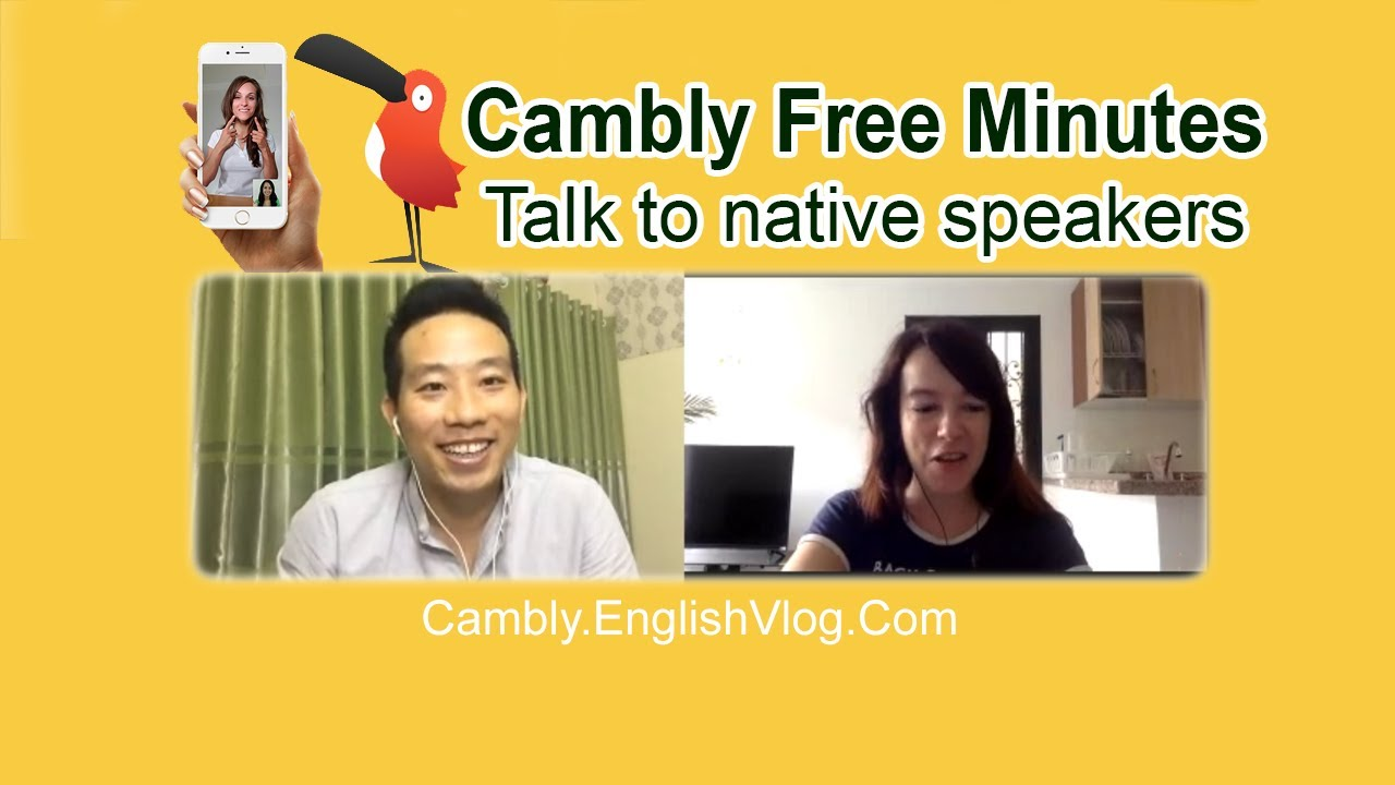 FREE TALKS WITH NATIVE SPEAKERS ON CAMBLY COM | English Vlog