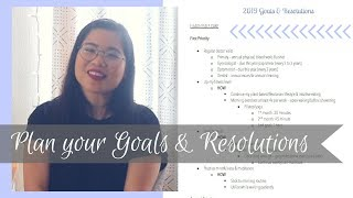 Goal & Resolution Planning ✨ | New Year Reset 2019 | Plan Your Life Series