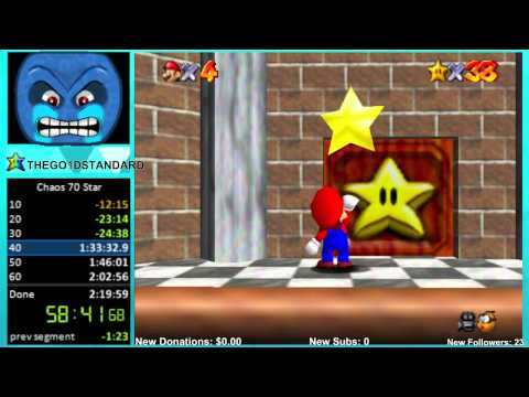 "Super Mario 64 Chaos Edition: 70 Star ""World Record"" in 1:49:06"