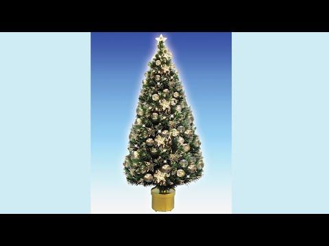 Fibre Optic Christmas Tree With Baubles.Fibre Optic Tree With 58 Baubles 32 Star The Christmas Warehouse