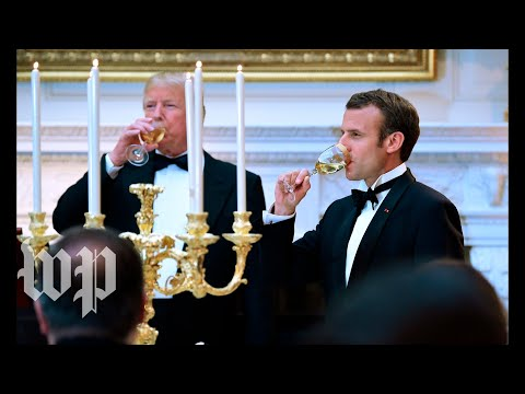 Macron at state dinner: 'Thank you for honoring France'