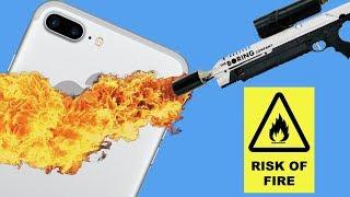 iPhone vs Flamethrower!