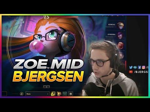 661. Bjergsen Zoe vs Syndra Mid - Patch 8.9 Season 8 - BJERGSEN STREAM