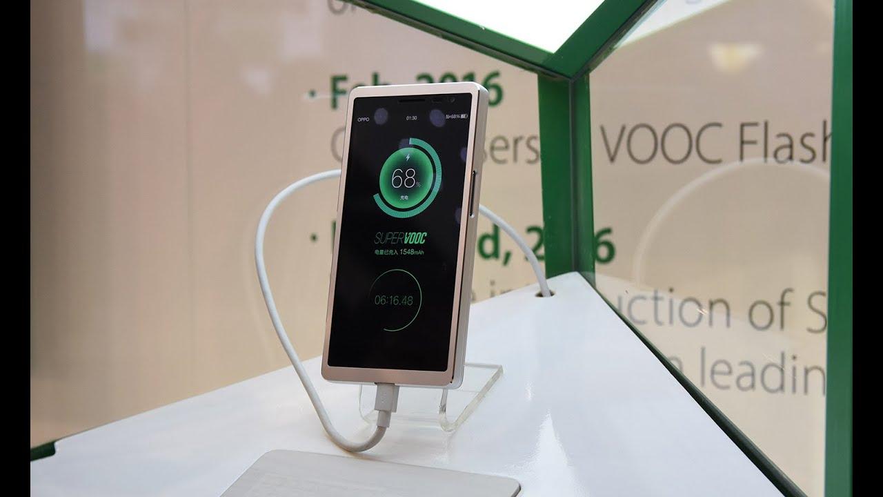 Быстрая зарядка смартфона от Oppo