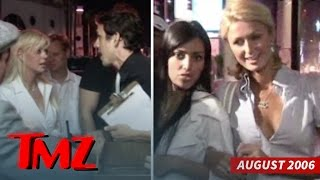 Kim Kardashian & Paris Hilton Diss Tara Reid... Happy Anniversary! (AWESOME VIDEO) | TMZ(One of the most epic videos TMZ ever shot was when Paris took her new best friend Kim -- whom we had never seen before -- to Hyde back in 2005., 2016-08-25T22:00:01.000Z)