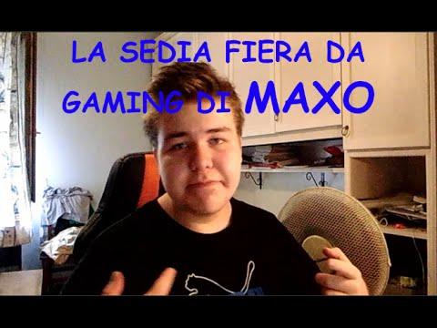 Sedia fiera da gaming di maxo montaggio sedia racing for Sedia da gaming