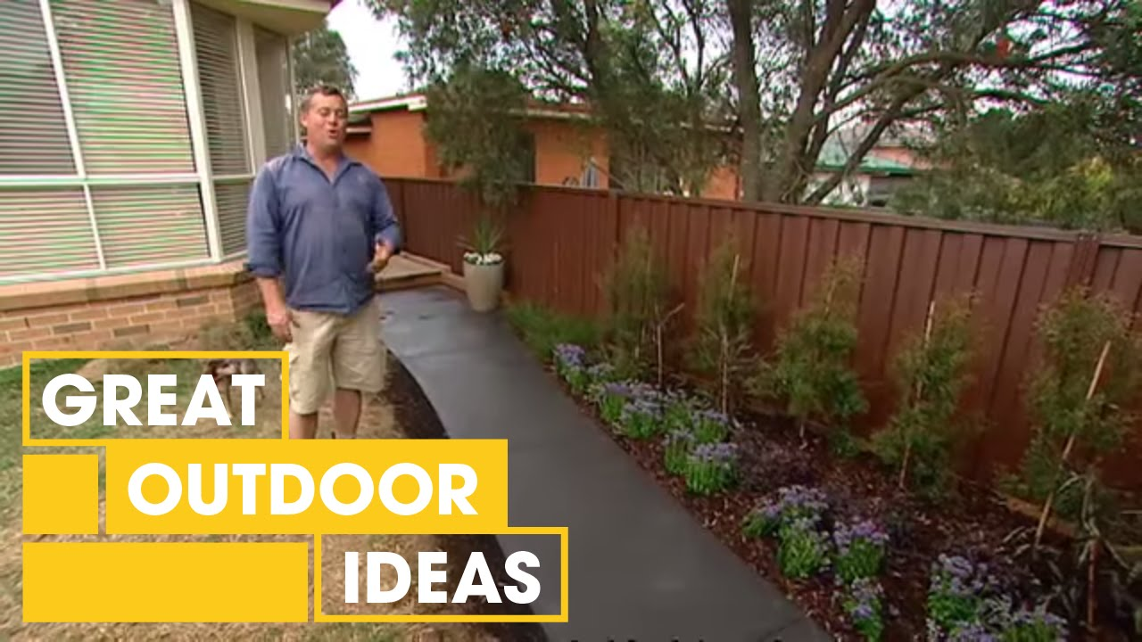How To Lay A Concrete Path | Outdoor | Great Home Ideas - YouTube