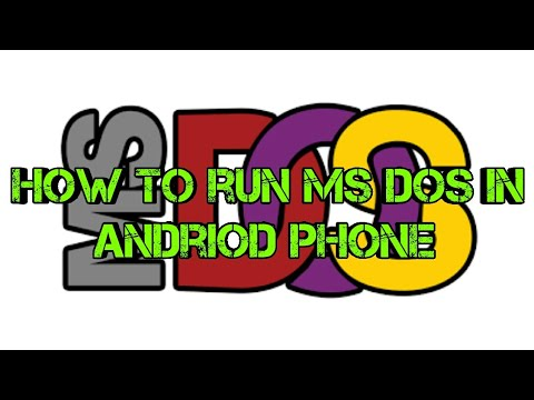 How To Run MS DOS In Android.