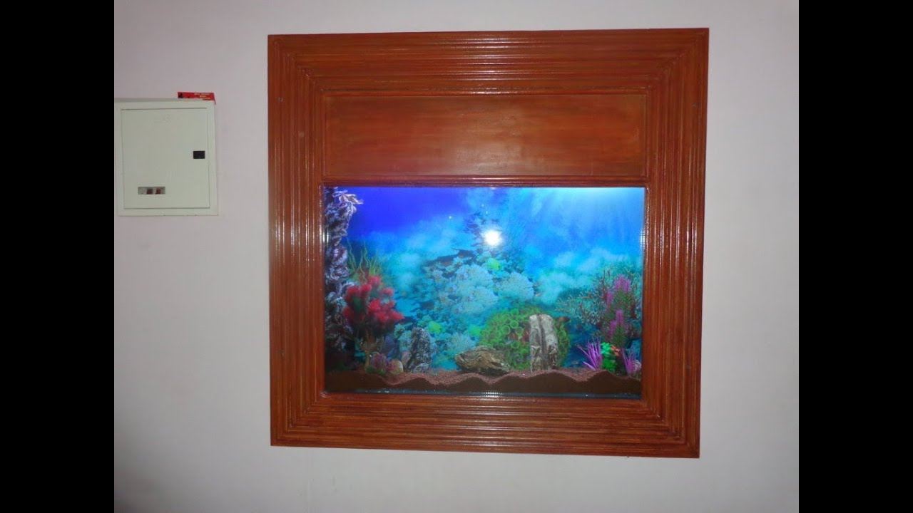 Slim Wall Mounting Aquarium Designed By Aquarium Chennai