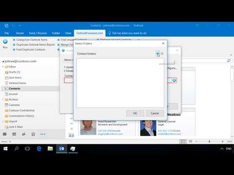 Get a Report on Unused Outlook Contacts