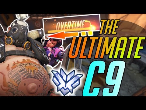 Overwatch - TEAM JUMPS OFF CART IN OVERTIME - THE ULTIMATE C9