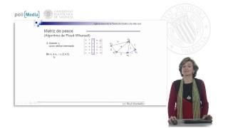 Teoría de Grafos en la vida real. Grafos ponderados. Algoritmo de Floyd-Warshall.© UPV
