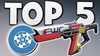 Destiny - TOP 5 VENDOR WEAPONS YOU NEED !!