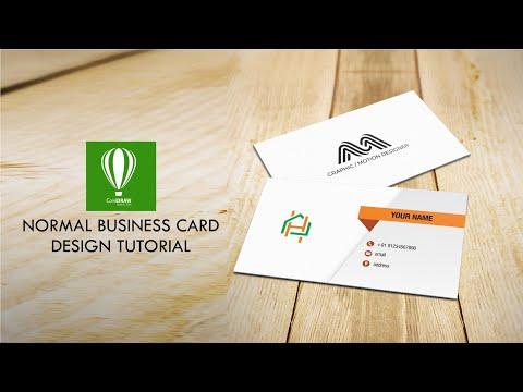 Corel Draw Simple Visiting Card Design Tutorial | Mudassir Design | Corel Draw thumbnail