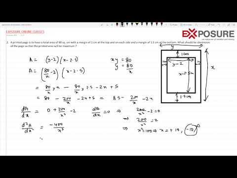 Maxima & Minima for ISC AND CBSE CLASS 12