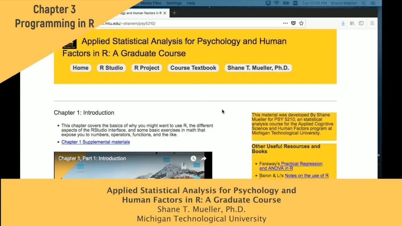 Psychology and Human Factors in R