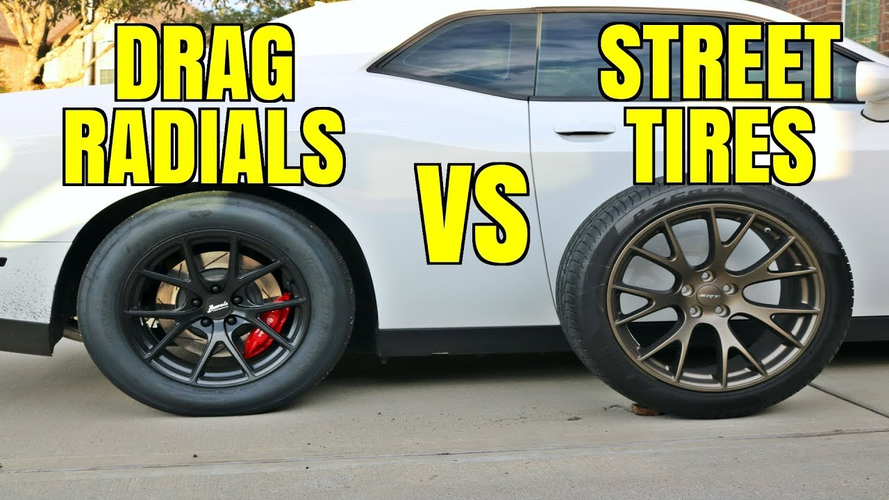 Dodge Charger Vs Challenger >> Testing Drag Radials vs Street Tires - Are They Worth It? - YouTube