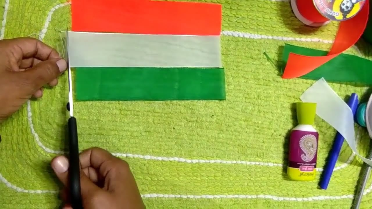 Craft For Flag Of India: How To Make Indian Flag Handmade Tiranga Craft By Hand