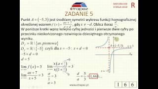 [Zadanie 5] Matura z matematyki poziom rozszerzony. Maj 2018.