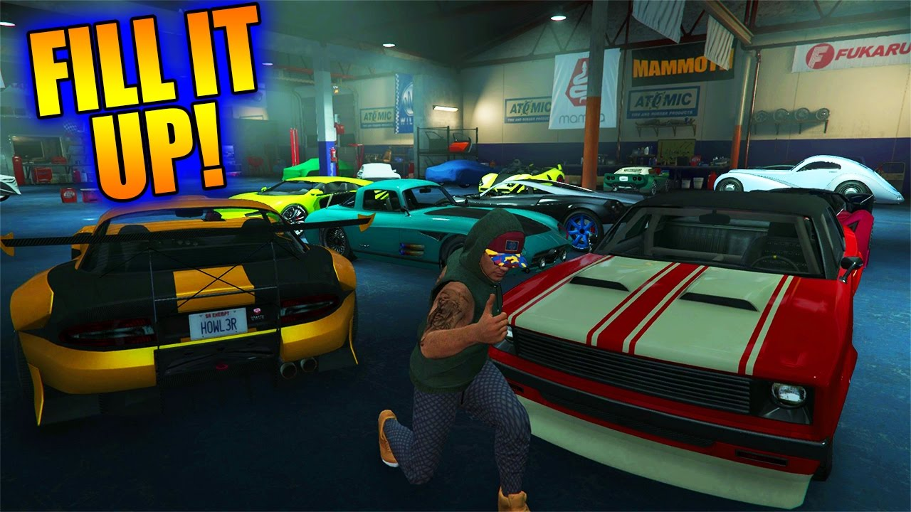 FILLING UP VEHICLE WAREHOUSE!! | STEALING VEHICLES!!! (GTA V Online  Import/Export DLC) Gamplay g