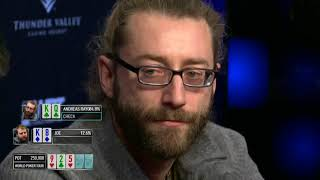 Wpt Rolling Thunder 2018 Final Table, Rayos Hands And Ians Laydown