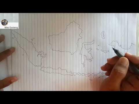 Menggambar Peta Indonesia Versi Sederhana Geografi Youtube