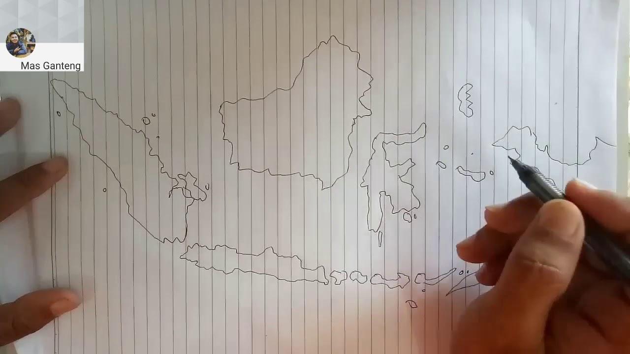 Menggambar Peta Indonesia Versi Sederhana Geografi