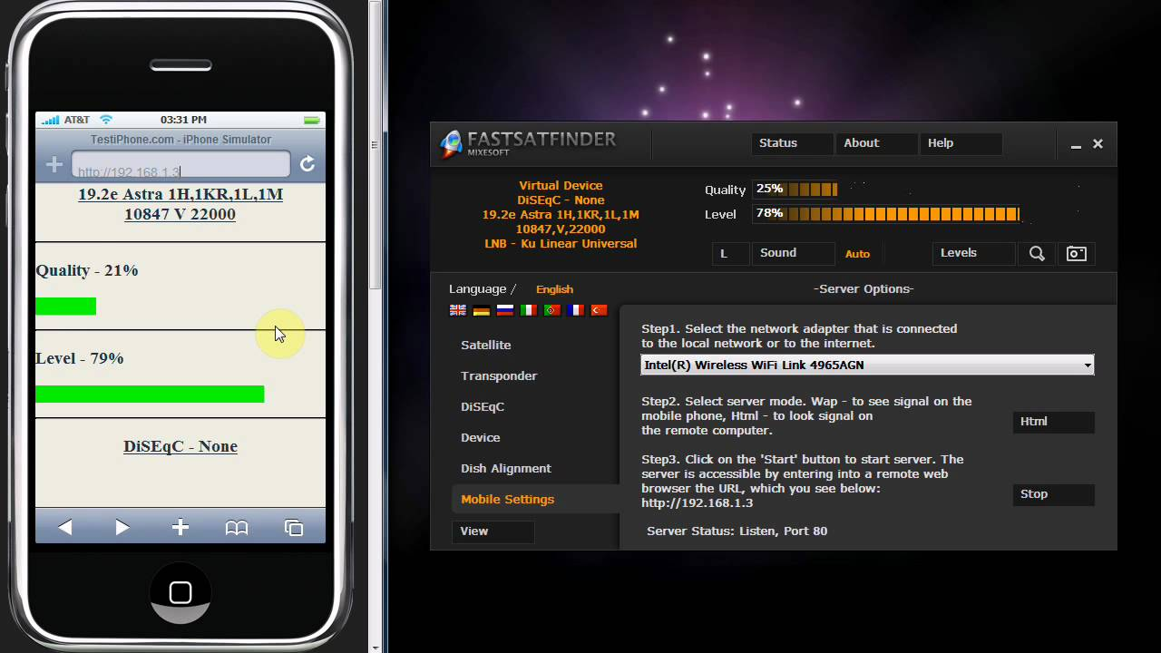 Satellite Finder Mobile Phone Or Iphone Youtube