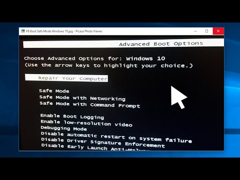 Start Windows 10 in Safe Mode With F8│How-To - YouTube