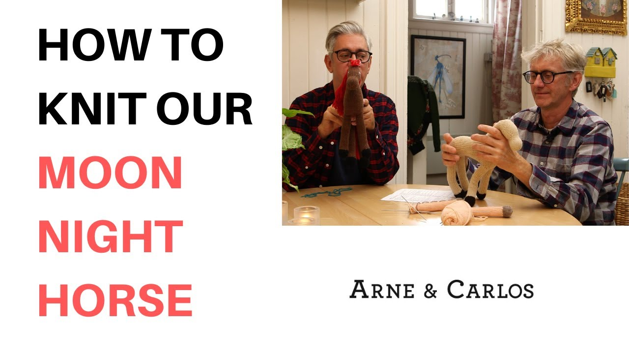 How to knit toys on the round by ARNE & CARLOS: Knitting the back legs of our Moon-night horse.