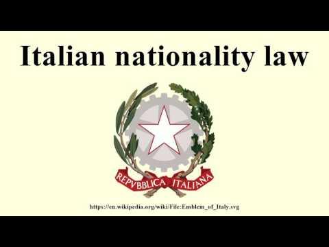 Italian nationality law