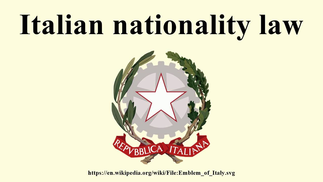 Italian nationality law - YouTube