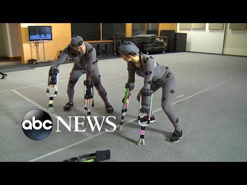 Watch Ginger Zee transform into a primate using motion capture technology