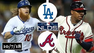 Los Angeles Dodgers vs Atlanta Braves Highlights || NLDS Game 3 || October 7, 2018