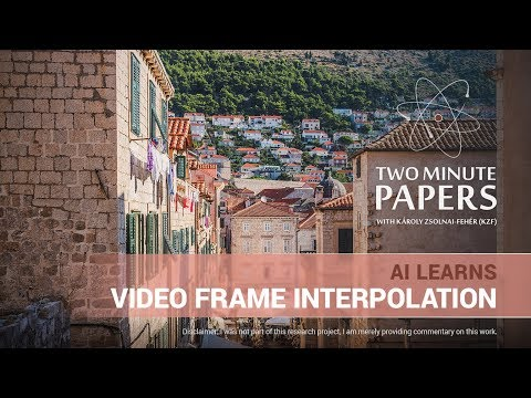 AI Learns Video Frame Interpolation | Two Minute Papers #197