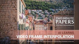 AI Aprende de Vídeo Fotograma de la Interpolación | Dos Minutos Papeles #197