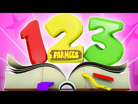 number song  learn numbers  123 song  learning  for kids  Farmees