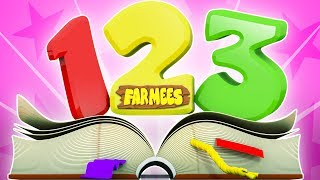 number song | learn numbers | 123 song | learning video for kids by Farmees