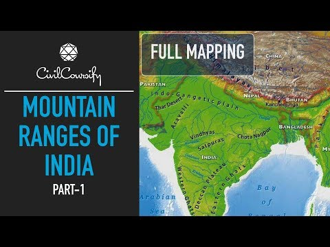 Mountain Ranges of India - PART 1 | North & North-East India | Full Mapping Practice