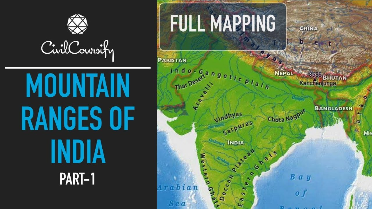 Mountain Ranges Of India Part 1 North North East India Full