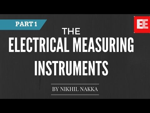 Electrical Measuring Instruments Part 1 | GATE EE Lectures | Nikhil Nakka