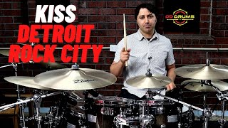 How to play KISS 'Detroit Rock City' on drums - Drum Lesson
