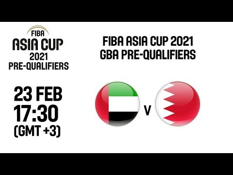 United Arab Emirates (UAE) v Bahrain (BAR) - Full Game - FIBA Asia Cup 2021 - GBA Pre-Qualifiers