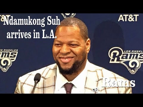Ndamukong Suh talks with reporters in L.A. | Los Angeles Times