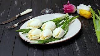 Закуска «Белые тюльпаны» - Рецепты от Со Вкусом