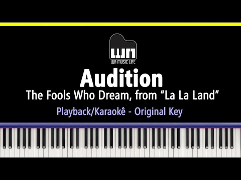 Audition (The Fools Who Dream) - La La Land - Piano Playback for Cover / Karaoke