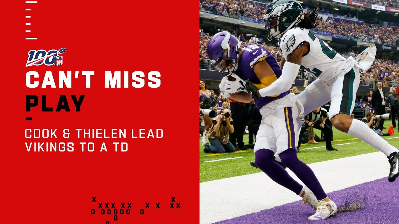 Dalvin Cook Adam Thielen Lead The Vikings To The End Zone